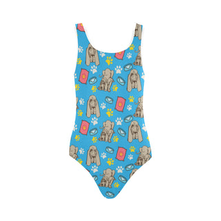 Bloodhound Pattern Vest One Piece Swimsuit - TeeAmazing