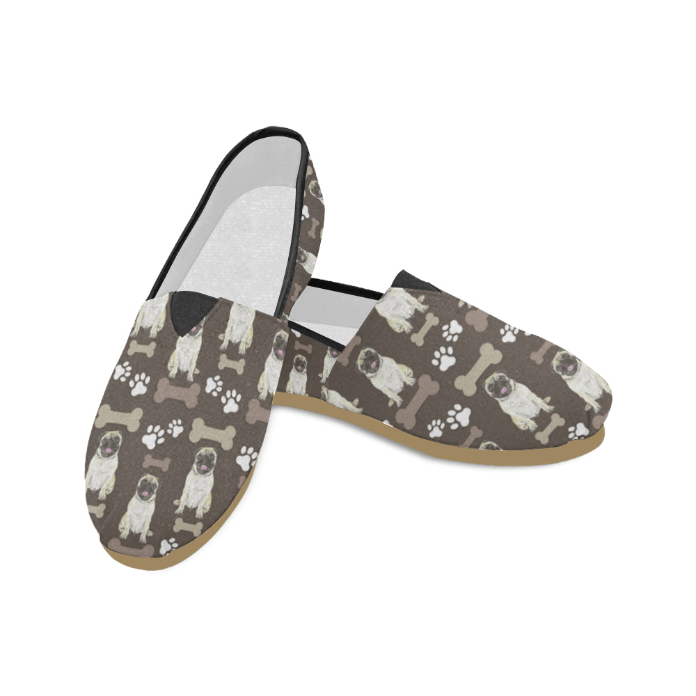 Pug Water Colour Pattern No.1 Women's Casual Shoes - TeeAmazing