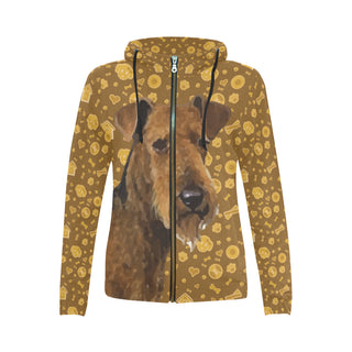 Welsh Terrier Dog All Over Print Full Zip Hoodie for Women - TeeAmazing