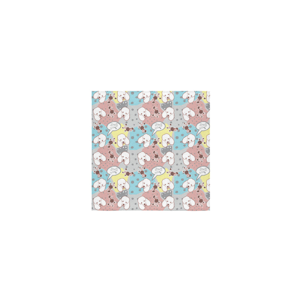 Poodle Pattern Square Towel 13x13 - TeeAmazing