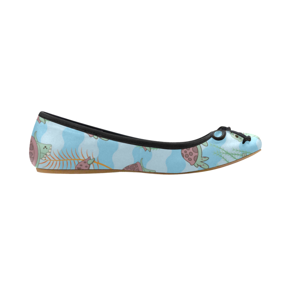 Turtle Juno Ballet Pumps - TeeAmazing