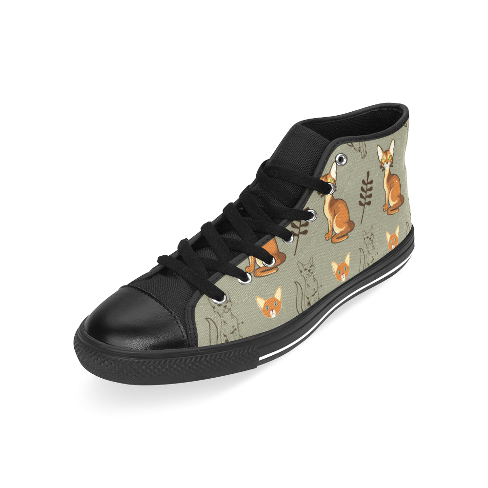 Abyssinian Black Men's Classic High Top Canvas Shoes /Large Size (Model 017) - TeeAmazing