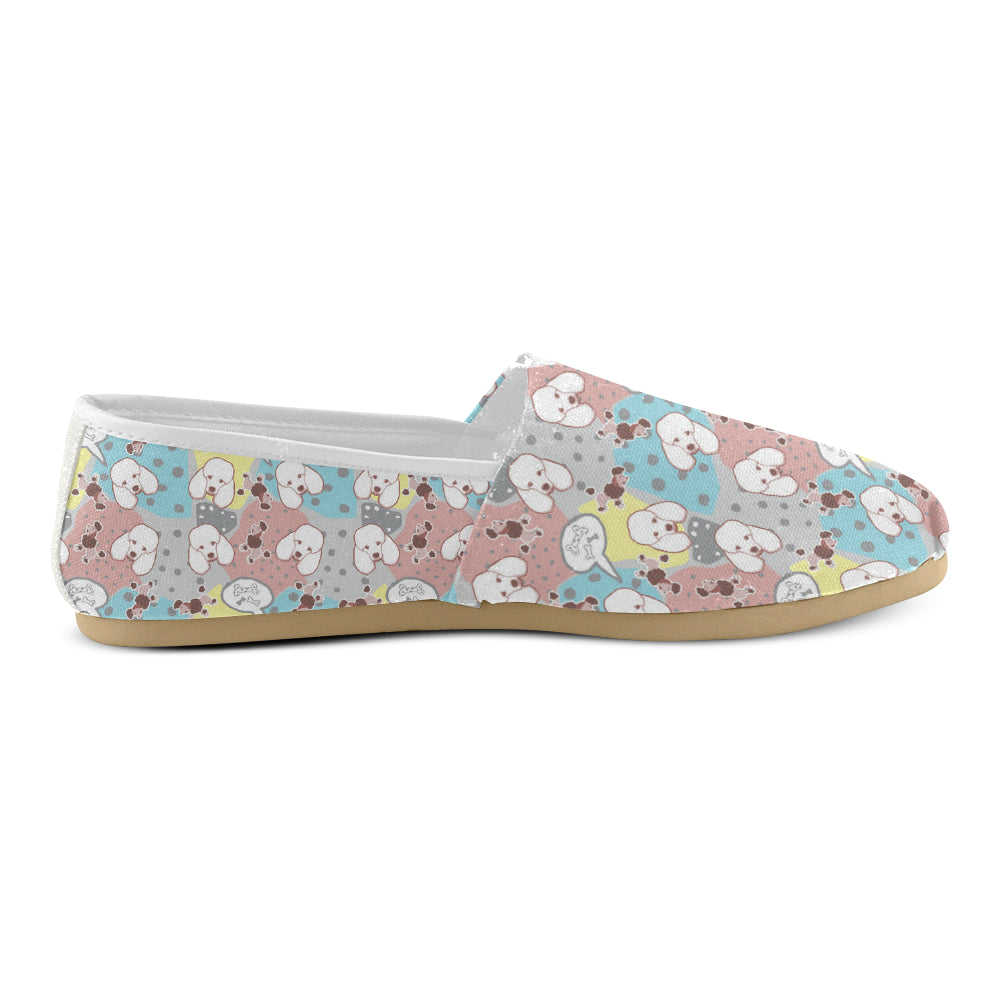 Poodle Pattern Women's Casual Shoes - TeeAmazing