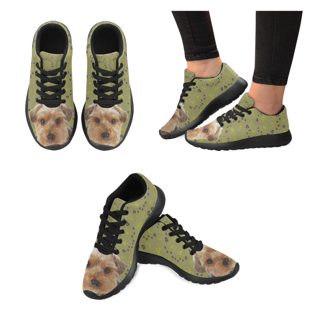 Yorkipoo Dog Black Sneakers Size 13-15 for Men - TeeAmazing