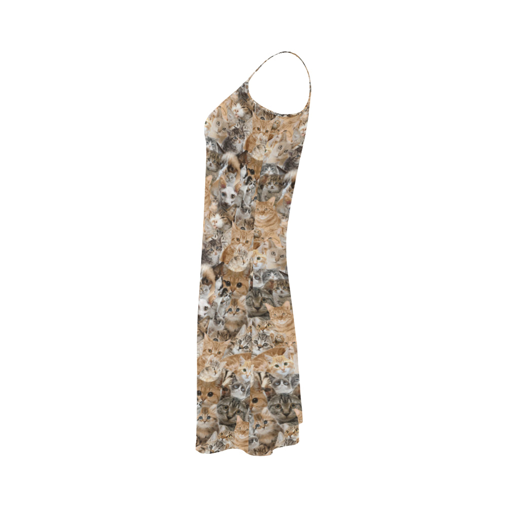 Cat Alcestis Slip Dress - TeeAmazing
