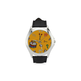 Bass Drum Pattern Women's Classic Leather Strap Watch - TeeAmazing