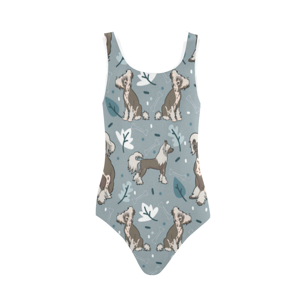 Chinese Crested Vest One Piece Swimsuit - TeeAmazing
