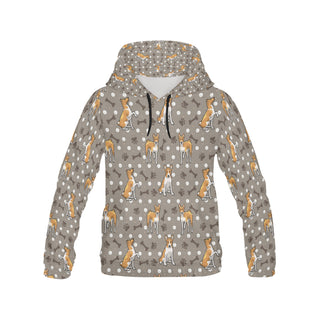 Basenji All Over Print Hoodie for Women (USA Size) (Model H13) - TeeAmazing