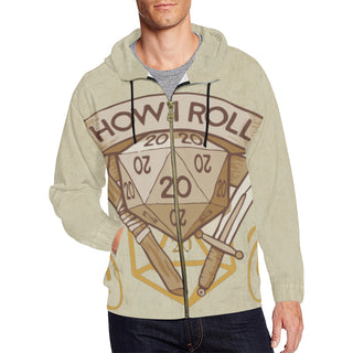 How I Roll All Over Print Full Zip Hoodie for Men - TeeAmazing