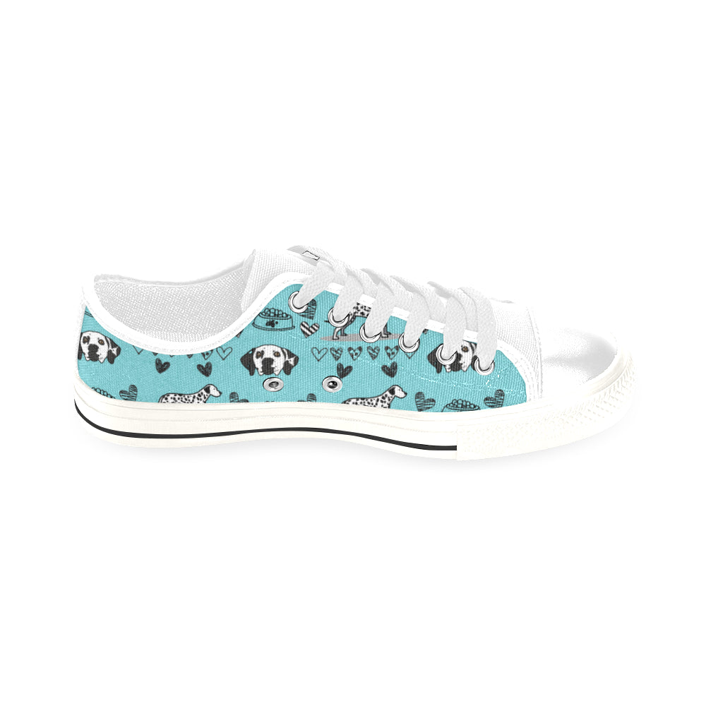 Dalmatian Pattern White Men's Classic Canvas Shoes/Large Size - TeeAmazing