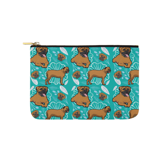Bullmastiff Flower Carry-All Pouch 9.5''x6'' - TeeAmazing