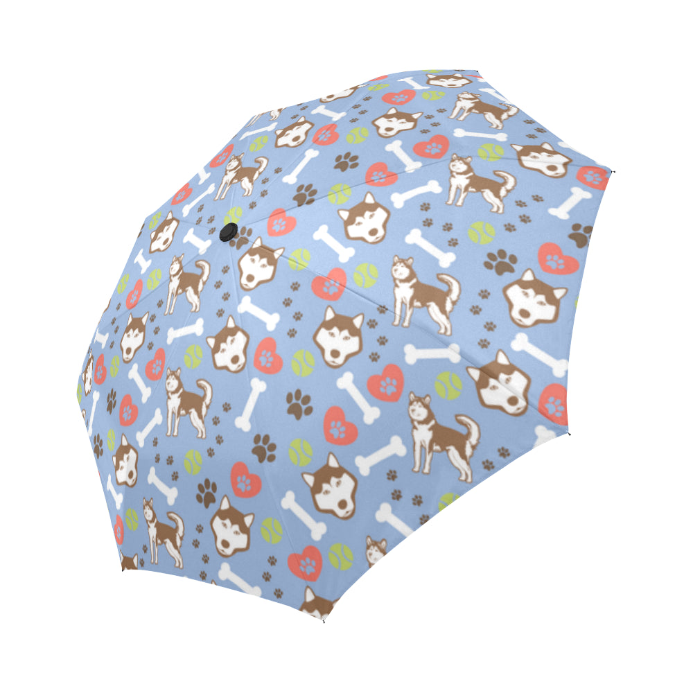 Alaskan Malamute Pattern Auto-Foldable Umbrella - TeeAmazing