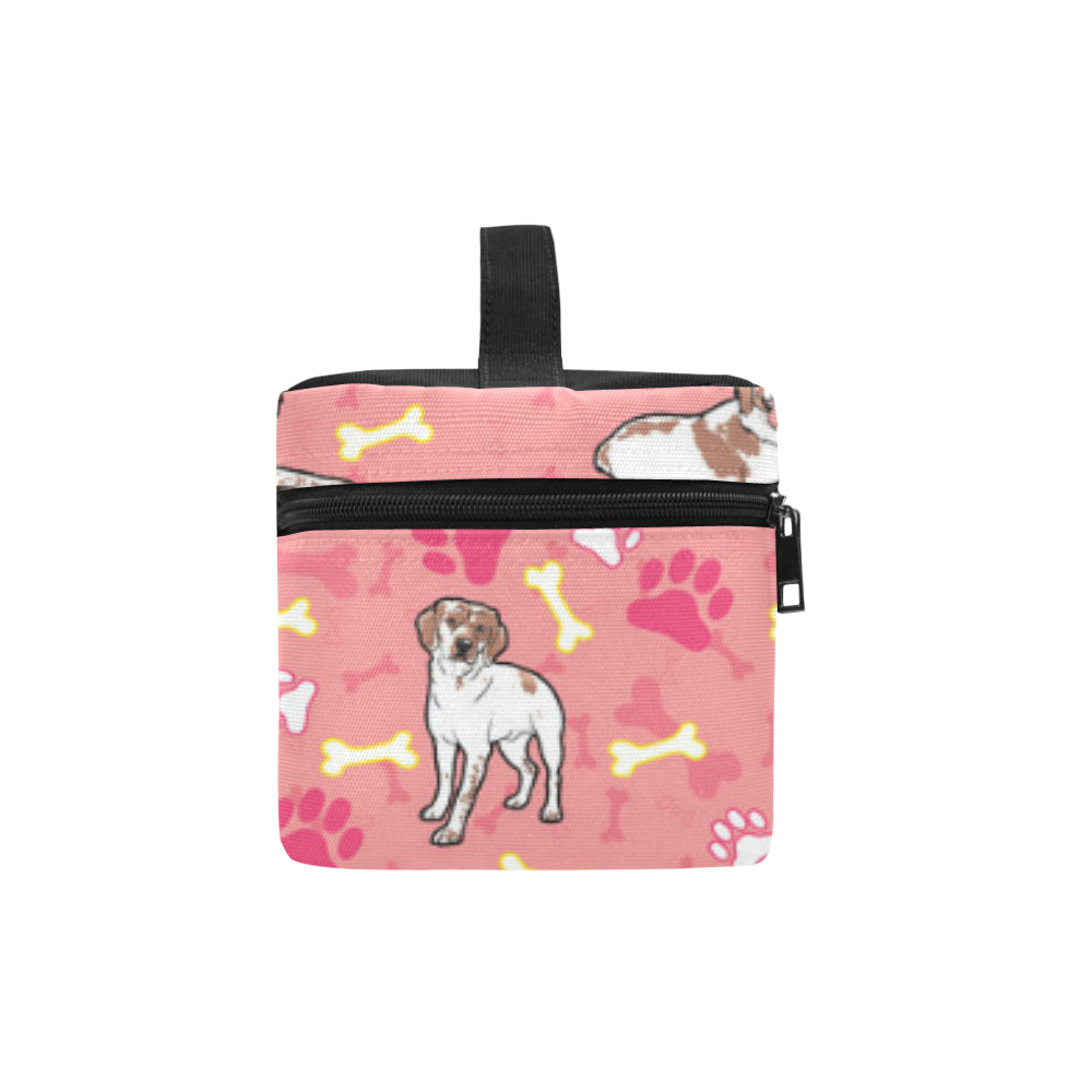 Brittany Spaniel Pattern Cosmetic Bag/Large (Model 1658) - TeeAmazing