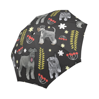 Miniature Schnauzer Flower Auto-Foldable Umbrella - TeeAmazing