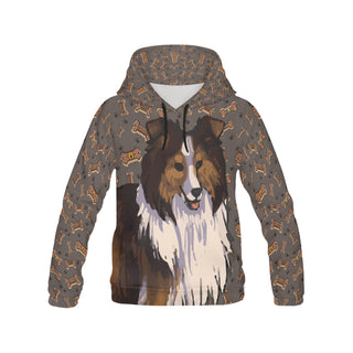 Shetland Sheepdog Dog All Over Print Hoodie for Women (USA Size) (Model H13) - TeeAmazing