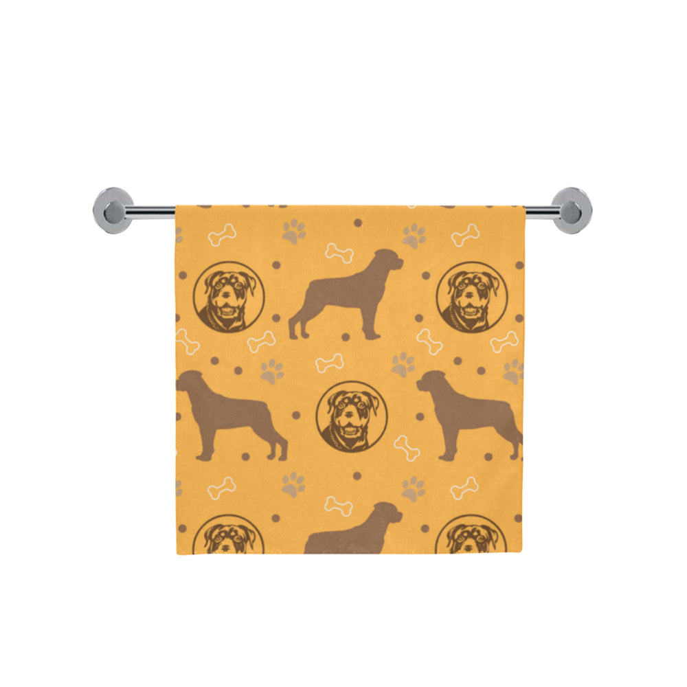 "Rottweiler Pattern Bath Towel 30""x56"" - TeeAmazing"
