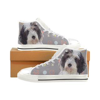 Petit Basset Griffon Vendéen White Men's Classic High Top Canvas Shoes - TeeAmazing