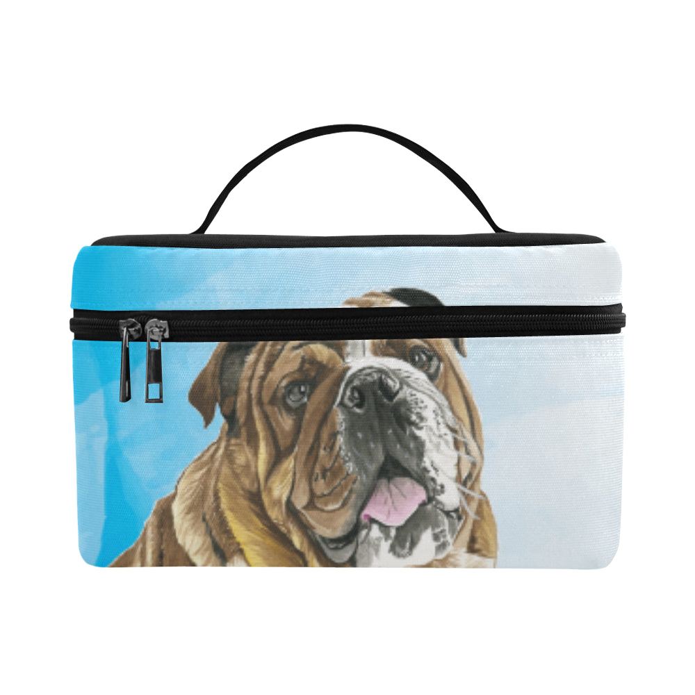 English Bulldog Water Colour No.1 Cosmetic Bag/Large - TeeAmazing
