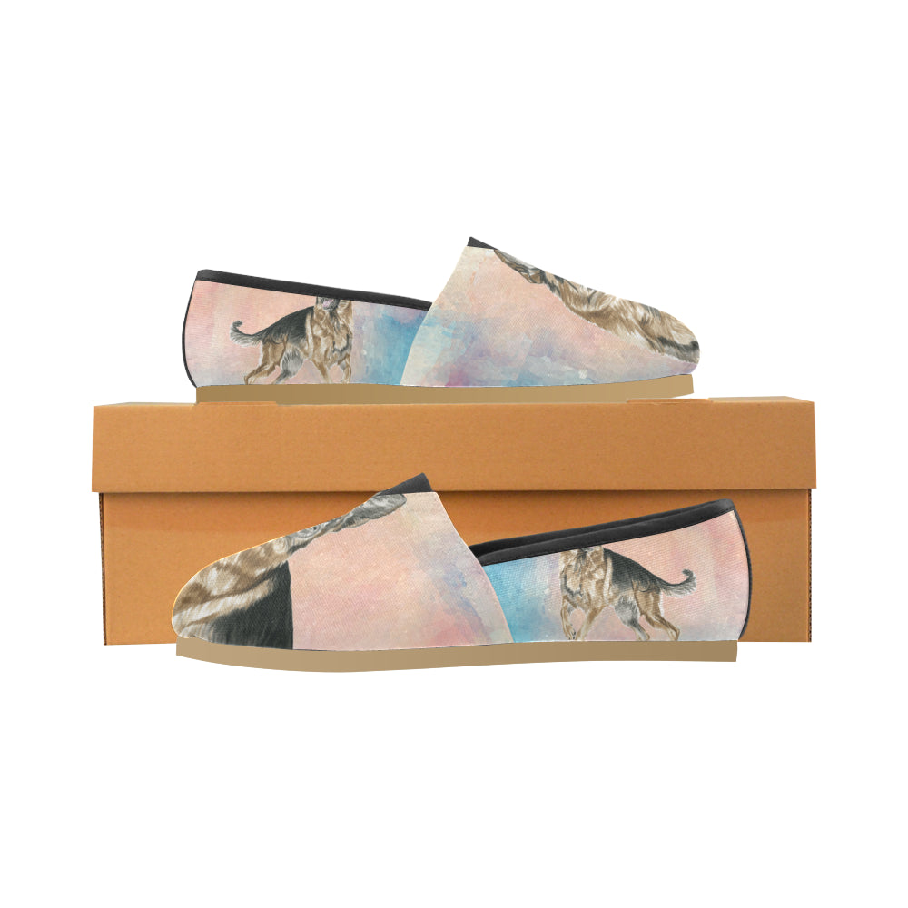 German Shepherd Water Colour No.1 Women's Casual Shoes - TeeAmazing