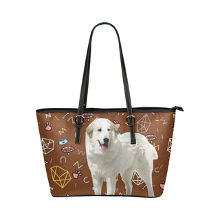 Great Pyrenees Dog Leather Tote Bag/Small - TeeAmazing