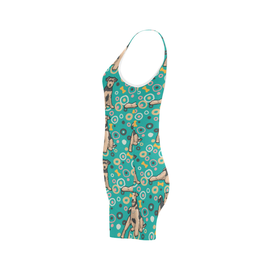 Airedale Terrier Pattern Classic One Piece Swimwear - TeeAmazing