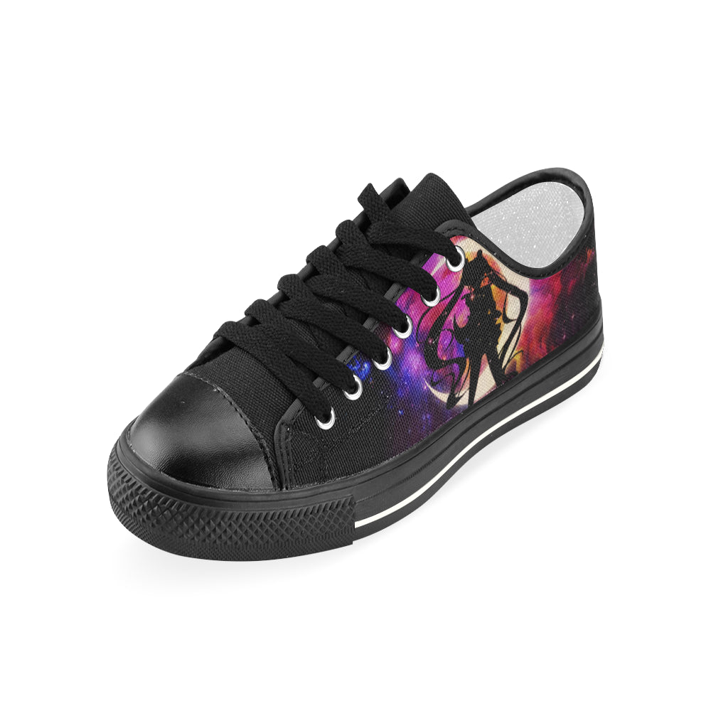 Sailor Moon Black Women's Classic Canvas Shoes - TeeAmazing
