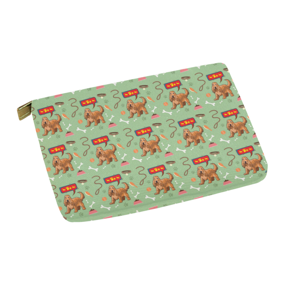 American Cocker Spaniel Pattern Carry-All Pouch 12.5x8.5 - TeeAmazing