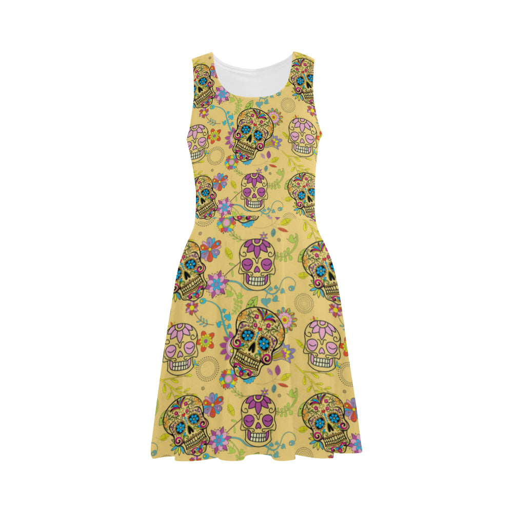 Sugar Skull Atalanta Sundress - TeeAmazing