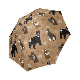 Miniature Schnauzer Pattern Foldable Umbrella - TeeAmazing