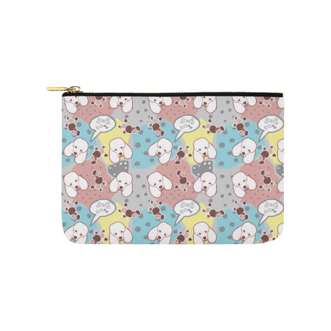 Poodle Pattern Carry-All Pouch 9.5x6 - TeeAmazing