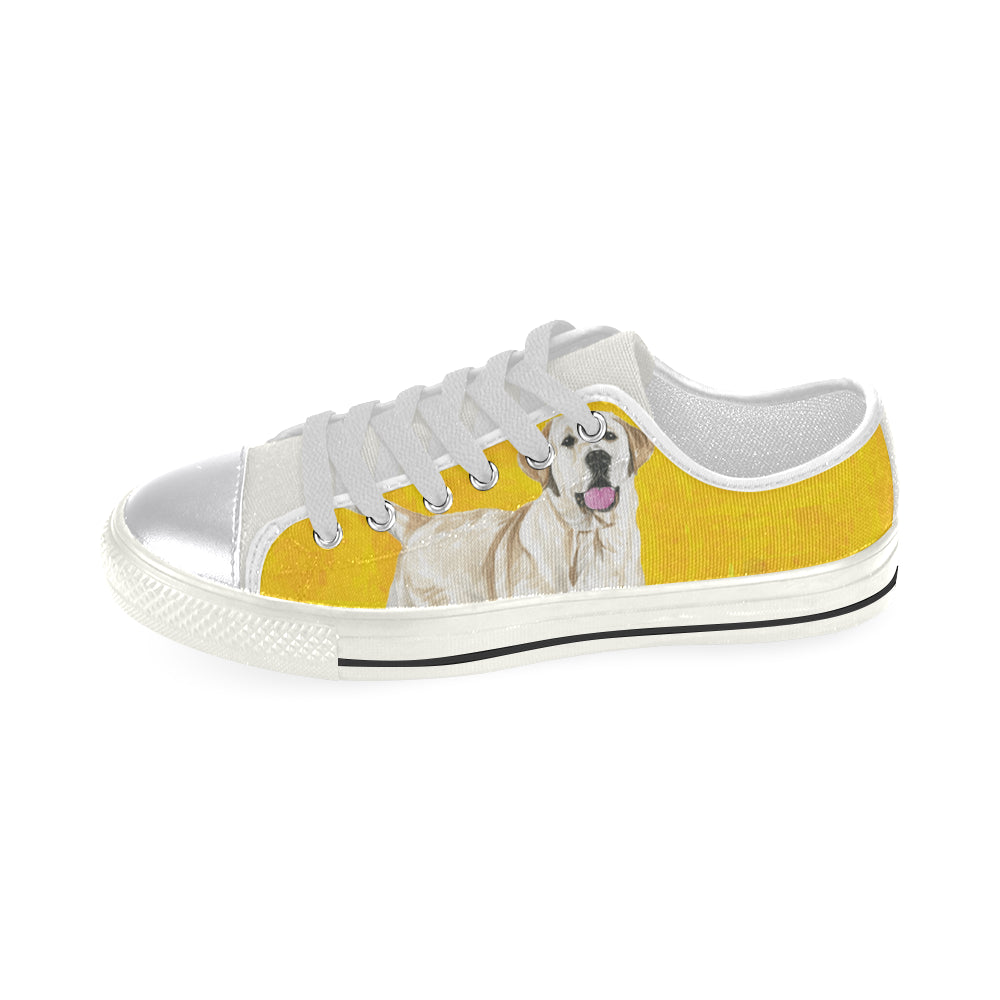 Labrador Retriever Water Colour No.1 White Canvas Women's Shoes/Large Size - TeeAmazing