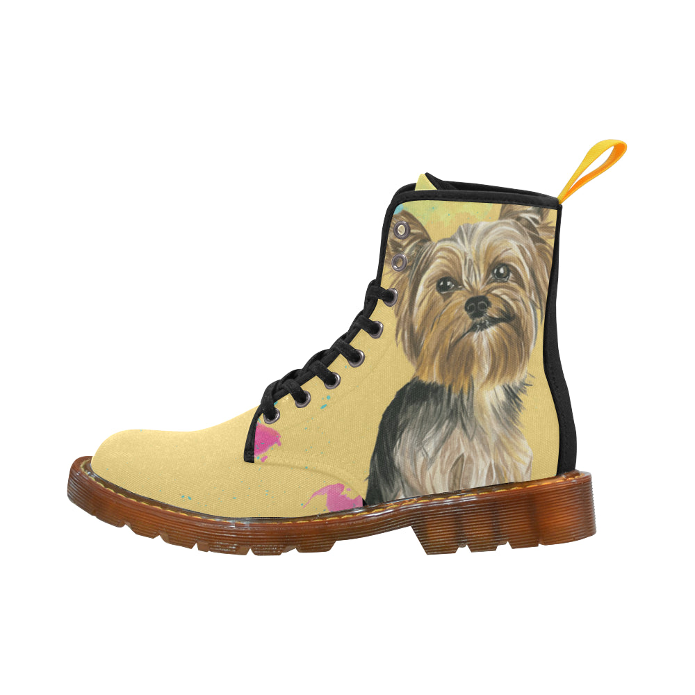 Yorkshire Terrier Water Colour No.1 Black Boots For Women - TeeAmazing