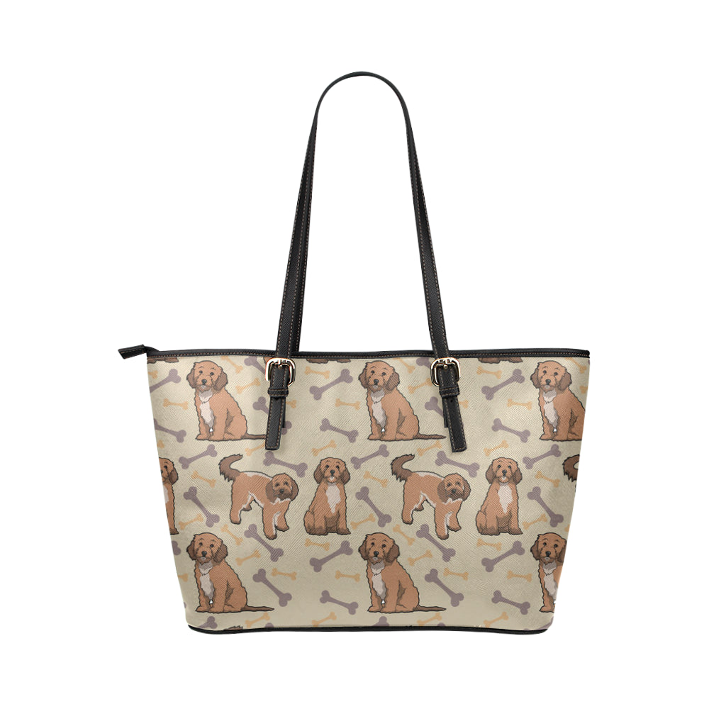 Cockapoo Leather Tote Bag/Small - TeeAmazing