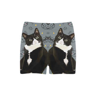 Tuxedo Cat Briseis Skinny Shorts (Model L04) - TeeAmazing