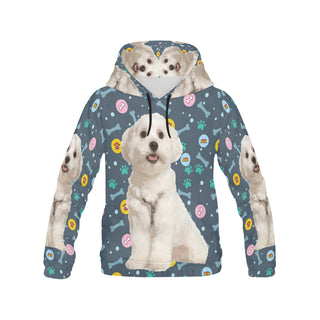 Maltese All Over Print Hoodie for Women - TeeAmazing