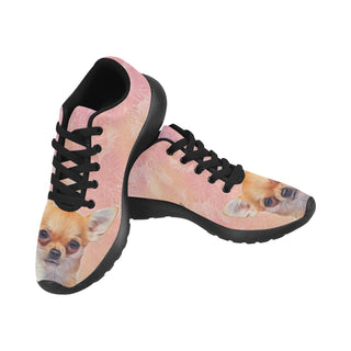 Chihuahua Lover Black Sneakers for Women - TeeAmazing