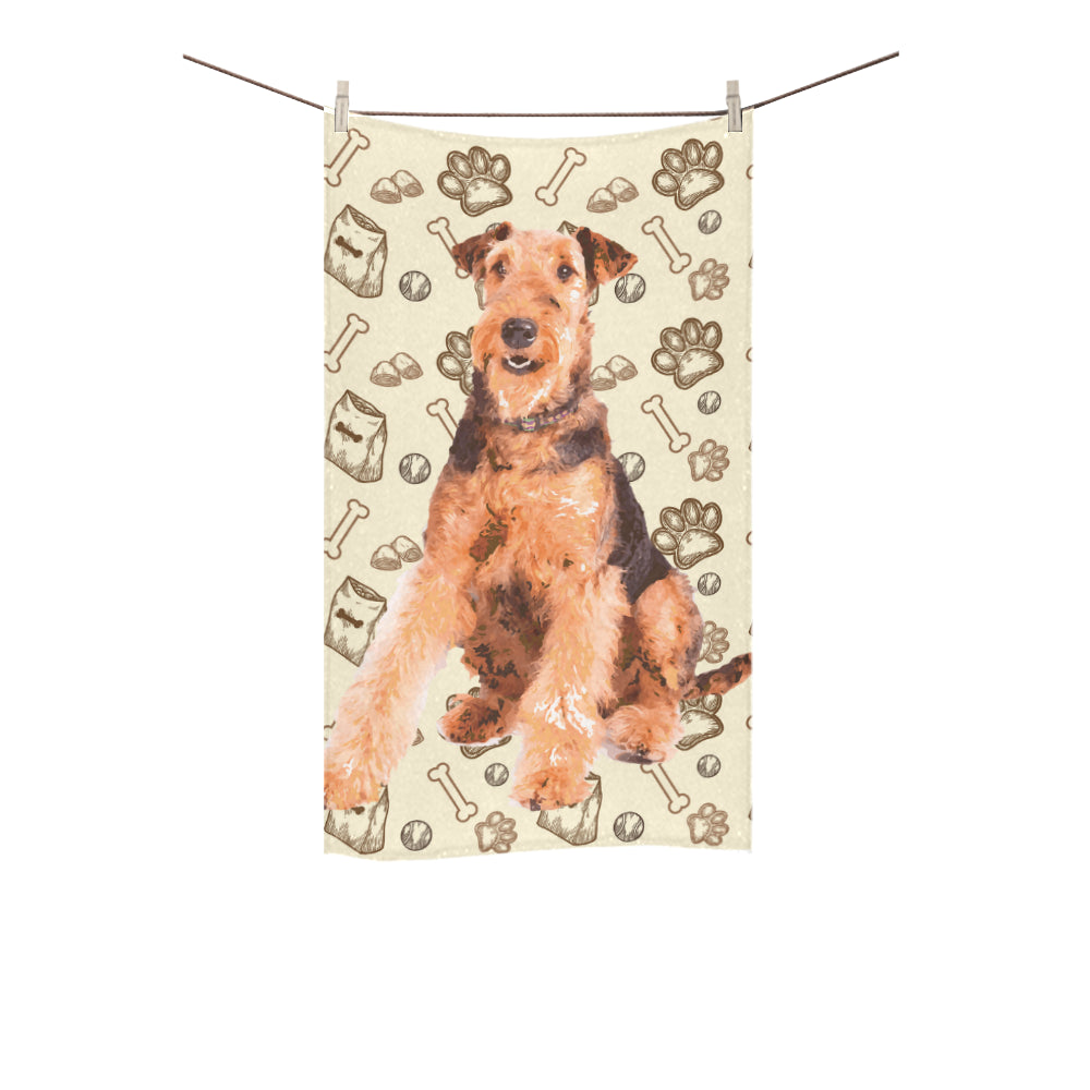 "Airedale Terrier Custom Towel 16""x28"" - TeeAmazing"
