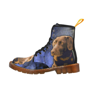 Labrador Retriever Black Boots For Women - TeeAmazing