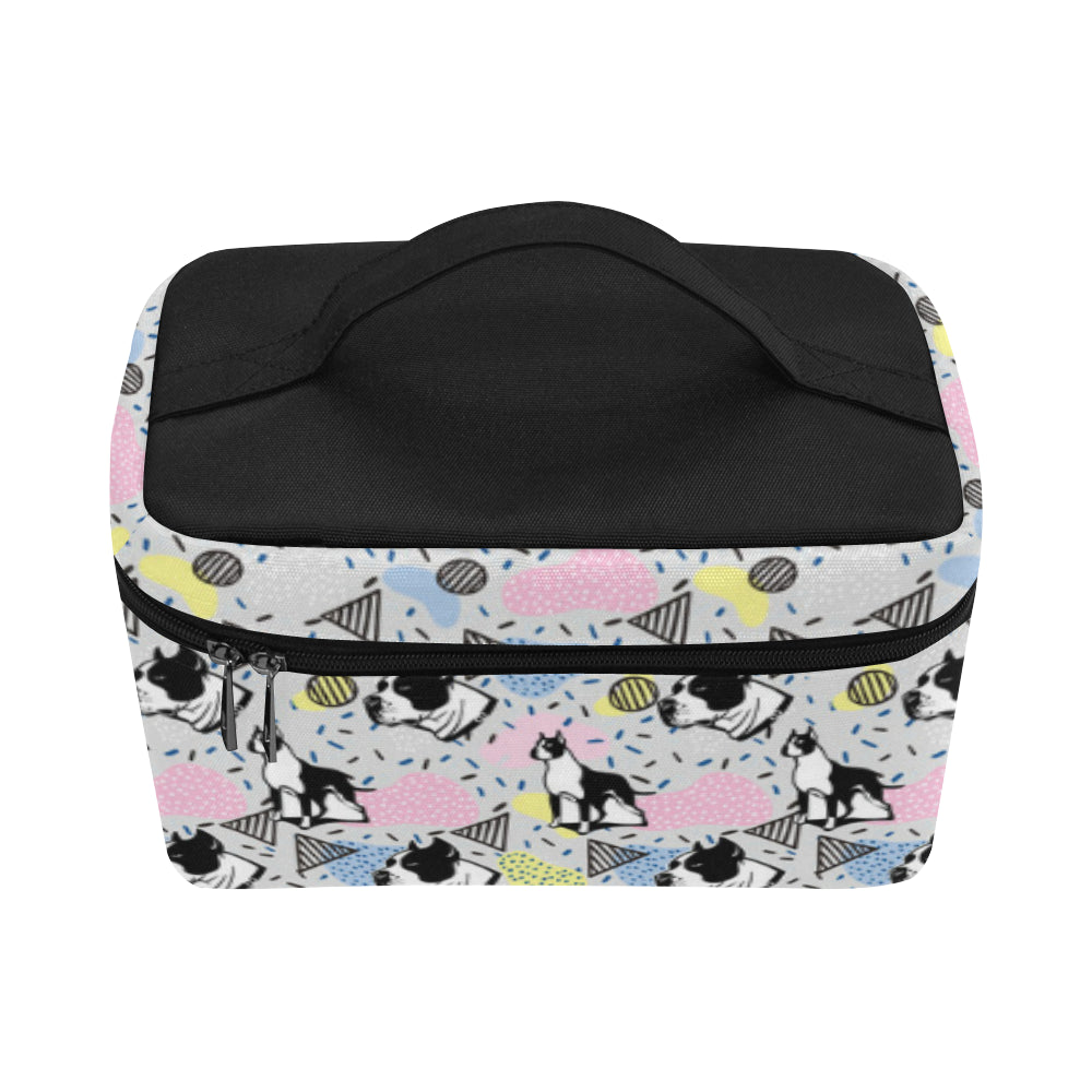 American Staffordshire Terrier Pattern Cosmetic Bag/Large - TeeAmazing