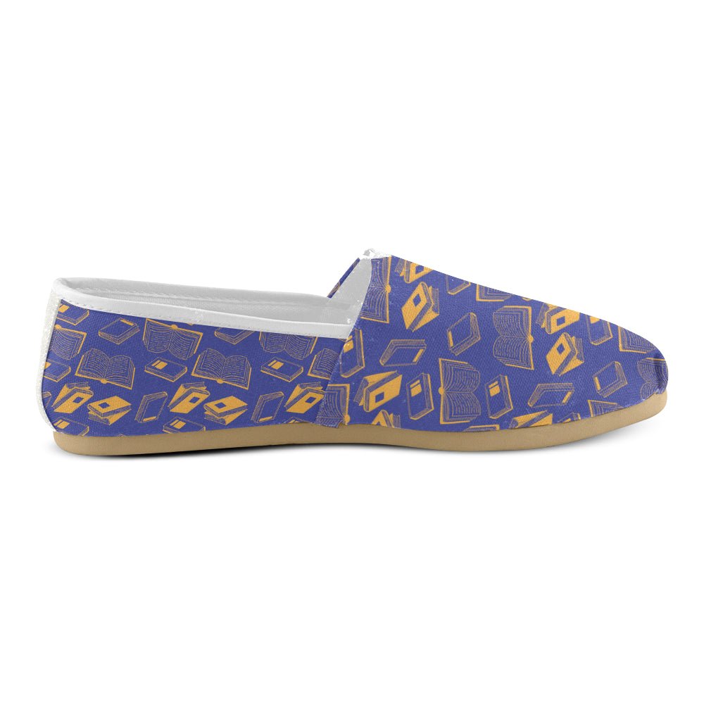 Book Pattern Women's Casual Shoes - TeeAmazing