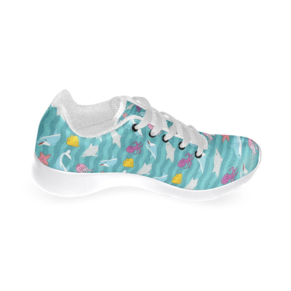 Dolphin White Sneakers for Women - TeeAmazing