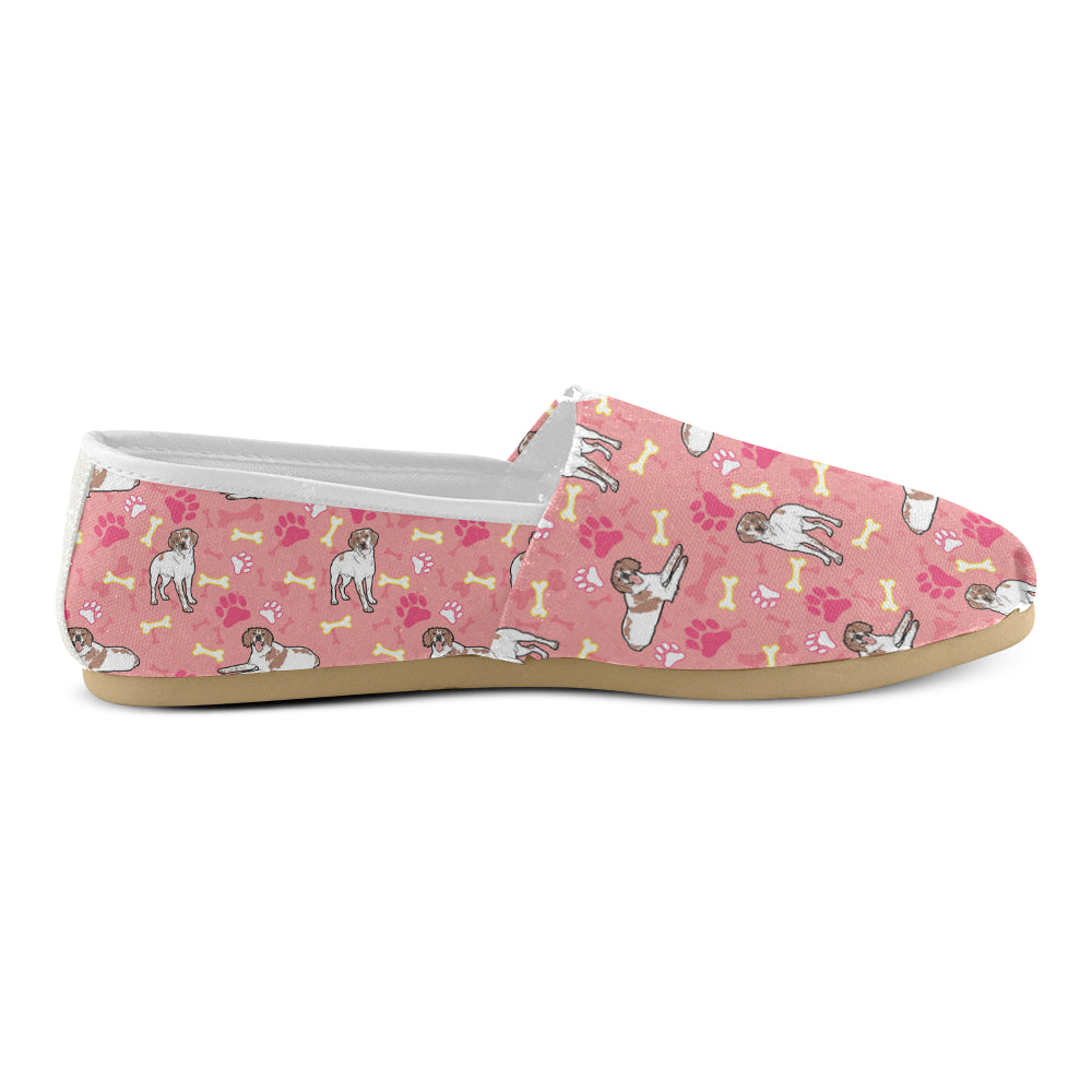 Brittany Spaniel Pattern Women's Casual Shoes - TeeAmazing