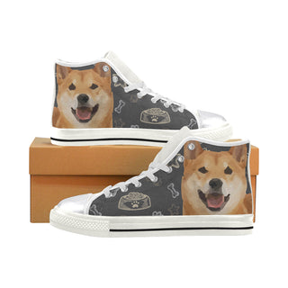 Shiba Inu Dog White Women's Classic High Top Canvas Shoes - TeeAmazing