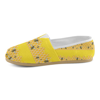 Bee Pattern Women's Casual Shoes (Model 004) - TeeAmazing