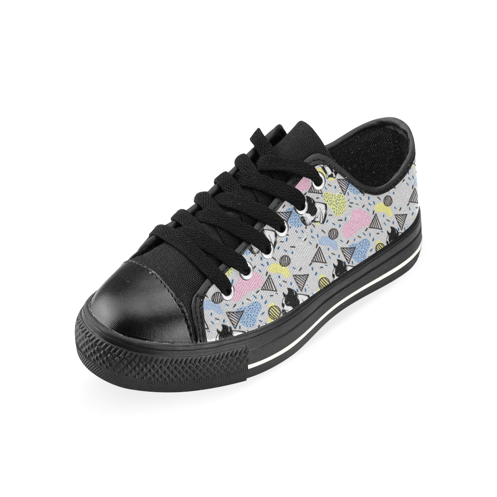 American Staffordshire Terrier Pattern Black Men's Classic Canvas Shoes - TeeAmazing
