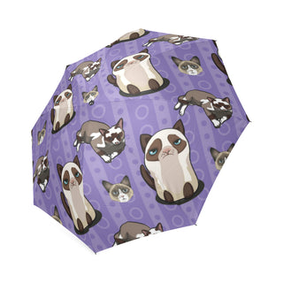 Snowshoe Cat Foldable Umbrella - TeeAmazing
