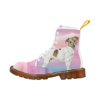 Jack Russell Terrier Water Colour No.1 White Boots For Women - TeeAmazing