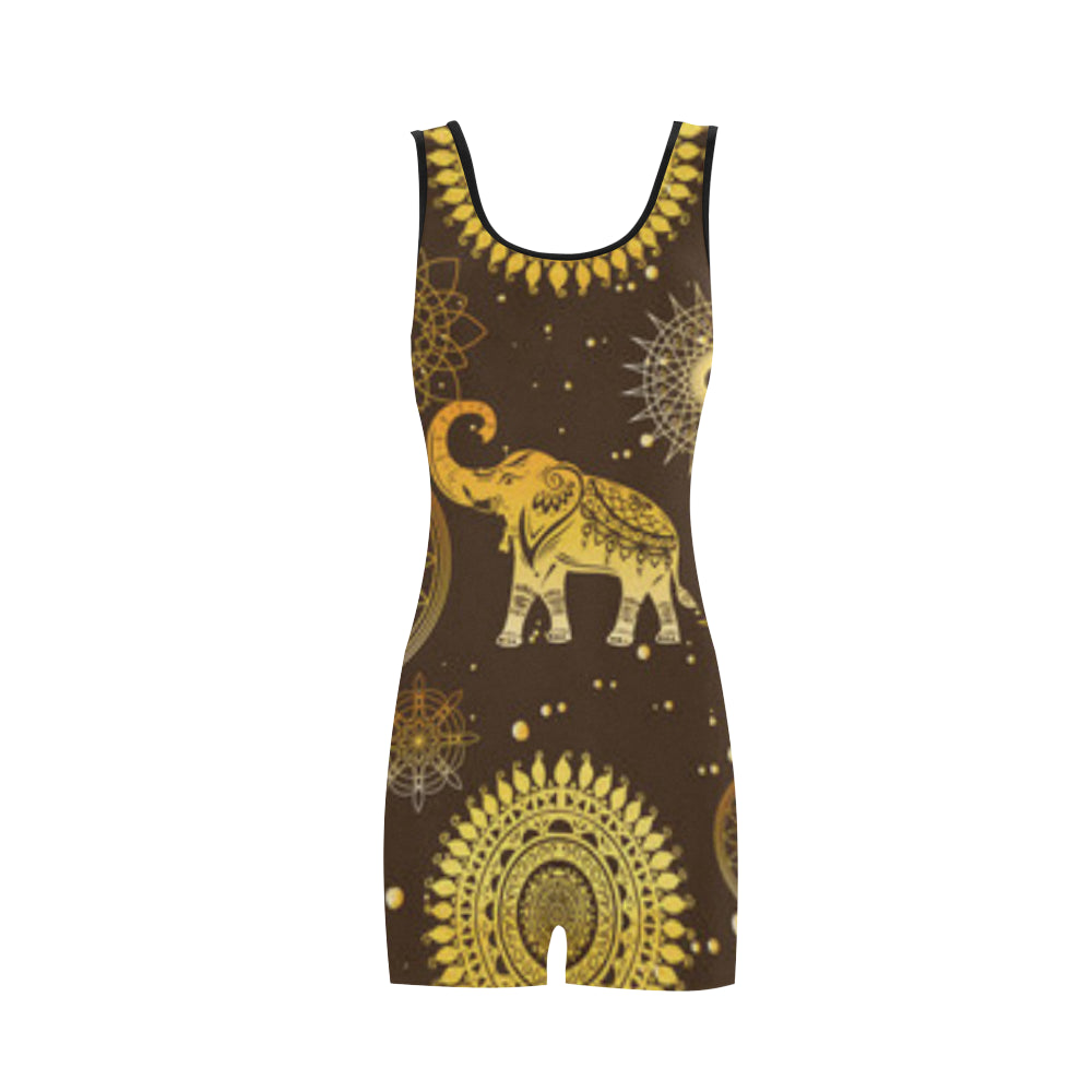 Elephant and Mandalas Classic One Piece Swimwear - TeeAmazing
