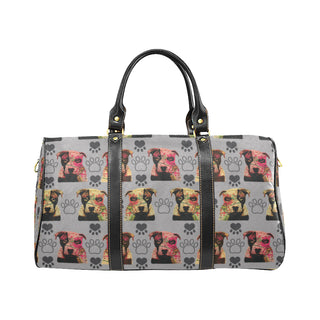 Pit Bull Pop Art Pattern No.1 New Waterproof Travel Bag/Small - TeeAmazing