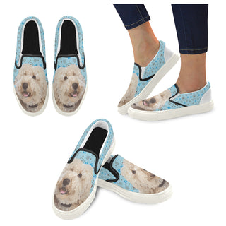 Labradoodle White Women's Slip-on Canvas Shoes - TeeAmazing